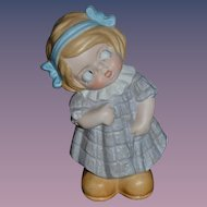Vintage Doll Figurine Googly Schafer & Vater Adorable Little Girl Character
