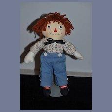 Vintage Raggedy Andy Doll Cloth Doll Sweet