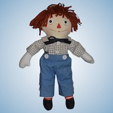 Vintage Raggedy Andy Doll Cloth Doll Sweet