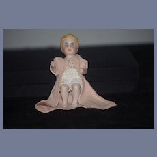 Antique Doll Miniature All Bisque Jointed Dollhouse Character