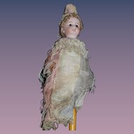 Antique Doll Marrotte Bisque Jester W/ Original Clothing Plays Music