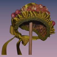 Wonderful Sweet Woven Straw Hat Bonnet For Doll Fancy
