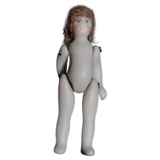 Artist Tiny Miniature All Bisque Jointed Doll for Dollhouse Doll