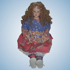 Vintage Juanita Montoya Artist Doll ONLY 50 MADE #4 Signed and Dated Limited Edition Large Doll 27""