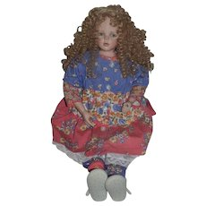 """Vintage Juanita Montoya Artist Doll ONLY 50 MADE #4 Signed and Dated Limited Edition Large Doll 27"""""""