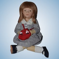 Artist Doll Maggie Iocano Cloth Doll Whitney Signed and Numbered Limited Edition Felt Doll