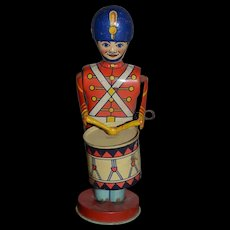 Old Doll Large Tin Toy Drum Major Wolverine Win Up Large Working