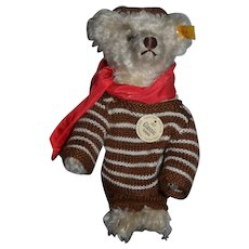 Wonderful Teddy Bear Jointed Steiff  W/ Button Tag and Dressed in Original Clothes