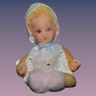 Vintage Doll Cloth Artist Miniature Dollhouse Baby Doll