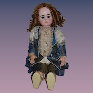 "Antique Doll Huge French Bisque BeBe RABERY & DELPHIEU RD Closed Mouth 28"" Tall"