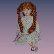 Sweet Artist Doll Red Hair Character Porcelain Doll Betty Bailey