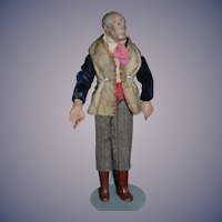 Old Creche Man Figure Doll Original Clothing Great Detail