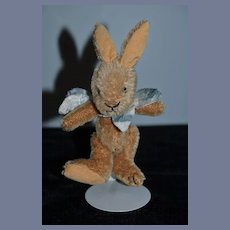 Artist Mohair Rabbit For Doll Fully Jointed Signed PLT sewn on Paw
