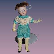 Antique Doll Miniature Bisque Dollhouse Boy