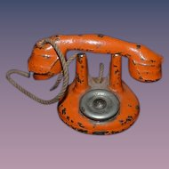 Old Doll Miniature Cast Iron Phone Telephone For Dollhouse