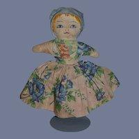 Old Cloth Doll Topsy Turvy Black Doll White Doll Sweet