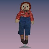 Old Doll Cloth Doll Raggedy Andy Rag Doll Button Eyes CUTIE