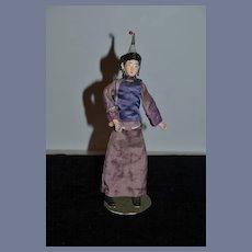 Old Oriental Doll Fancy Clothing & Fancy Head Wear