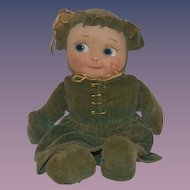 Old Doll Cloth Doll Mask Face Sweet  Character