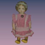 Old Doll Large Cloth Doll Rag Doll Feb. 13 1900 Printed Fabric Doll Sweet