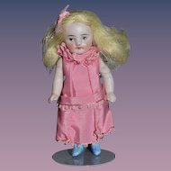 Antique Doll Miniature All Bisque Jointed SWEET! Dollhouse