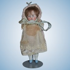 Antique Doll All Bisque Jointed Sweet!!  Miniature Dollhouse