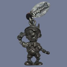 Old Miniature Doll Pinocchio Sterling Charm Dollhouse