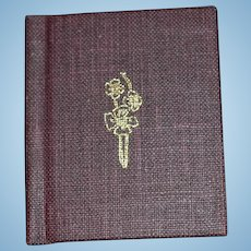 Vintage Miniature Doll Book The Bibliography of The Hillside Press Limited Edition  & Numbered