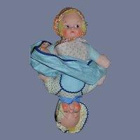 Vintage Doll Topsy Turvy  Awake and Asleep Sweet Knickerbocker