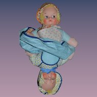 Vintage Doll Topsy Turvy  Awake and Asleep Sweet Knickerbocker