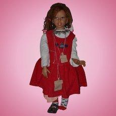 "Wonderful Artist Doll Martha Pineiro Large Signed GORGEOUS 29"" Tall #126/421"