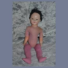Unusual Old Composition and Cloth Oriental Doll Sweet