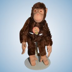 Old Mohair Monkey Jocko Steiff Monkey Jointed Miniature