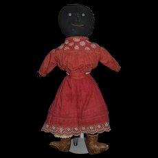 Antique Doll Black Doll Cloth Doll Rag Doll Folk Art Unusual