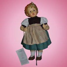 Vintage M.J. Hummel Club Porcelain Doll W/ Original Tag Goebel