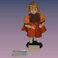 Vintage M.J. Hummel Doll Goebel Porcelain School Girl