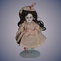 Antique Doll All Bisque Original Factory Clothing Smiling Laugh Unusual Character Miniature
