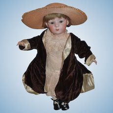 Antique Doll Bisque Mirette Heubach Character Doll Wonderful Doll Clothes and Hat French Market