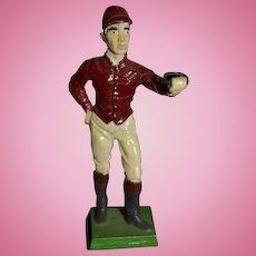 Vintage Doll Cast Iron Jockey Lantern Cast Iron Figurine Miniature Dollhouse