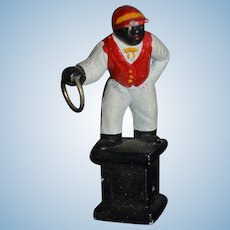 Vintage Doll Black Jockey Lantern Figurine Miniature Dollhouse