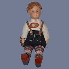 Old Doll Unusual Doll Painted Features Wonderful Original Clothing Cloth Papier Mache