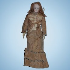 Antique Doll French Fashion Incised 2 Pale Bisque Paperweight Eyes Gorgeous