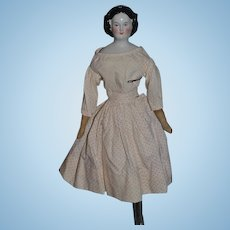 Antique Doll China Head Mary Todd Lincoln Perfect Cabinet Size