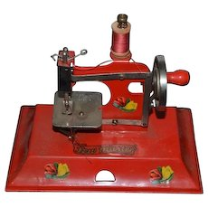 Old Sew Master Miniature Child's Doll Metal Sewing Machine In ORIGINAL Box by KAYANEE SewMaster Toy Works!
