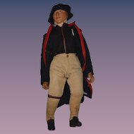 Old Doll Papier Mache Large Character Doll Original Clothing