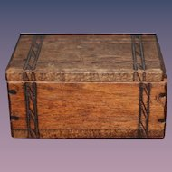Wonderful Old Miniature Doll Trunk Hand Carved Dollhouse