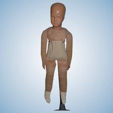 Rare Prototype 1920's Dora Petzold Doll Unusual Cloth Celluloid D P Doll Stockinette German