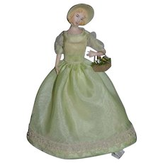 Wonderful Doll Artist Signed China Head Molded Bonnet EEH 1966 Gorgeous