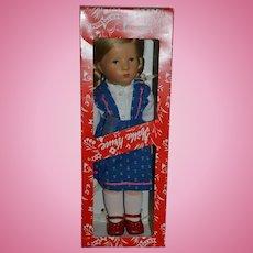 Wonderful Kathe Kruse Doll In Original Box W/ String Tag Felt Cloth Doll