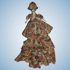 Wonderful Old Wood Art Deco Carved Doll Character Unusual